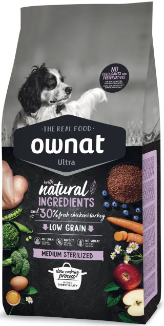 Croquettes Chien - Ownat Ultra Medium Sterilized 3kg 686591