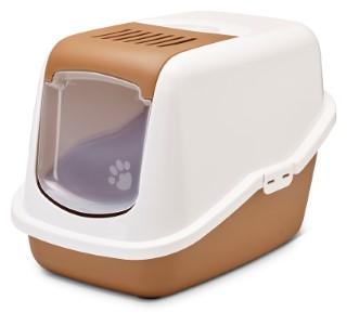 Maison de toilette pour chat Nestor Marron nordique 691779