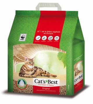 Litière végétale agglomérante pour chat Cat's Best Original 5L - 2,1kg 695992