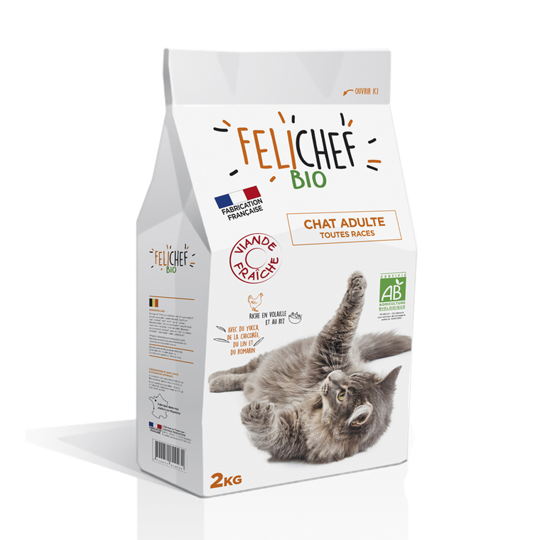 Croquettes Chat - Felichef Bio Adulte 2kg 612401