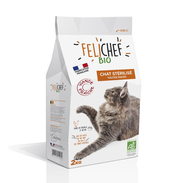 Croquettes Chat - Felichef Bio Adulte Stérilisé 2kg 612423