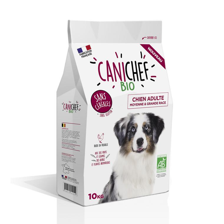Croquettes Chien Adulte medium maxi  - Canichef Bio Sans Céréales Moyenne et Grande race 10kg 612435
