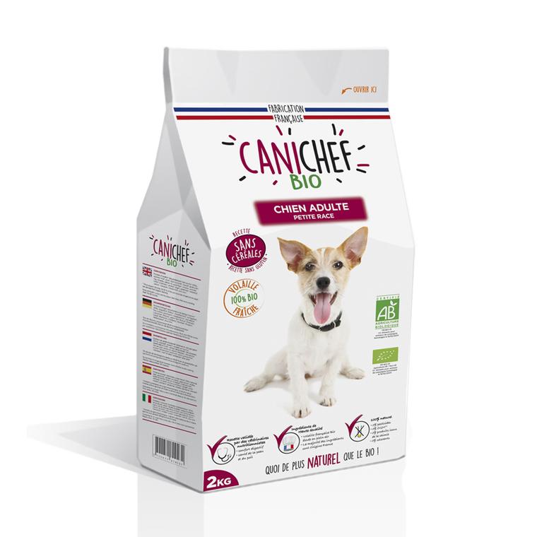 Croquettes Chien Adulte mini - Canichef Bio Sans Céréales Petite Race 2kg 612436