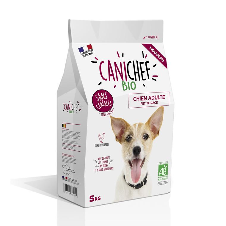 Croquettes Chien Adulte mini - Canichef Bio Sans Céréales Petite Race 5kg 612437