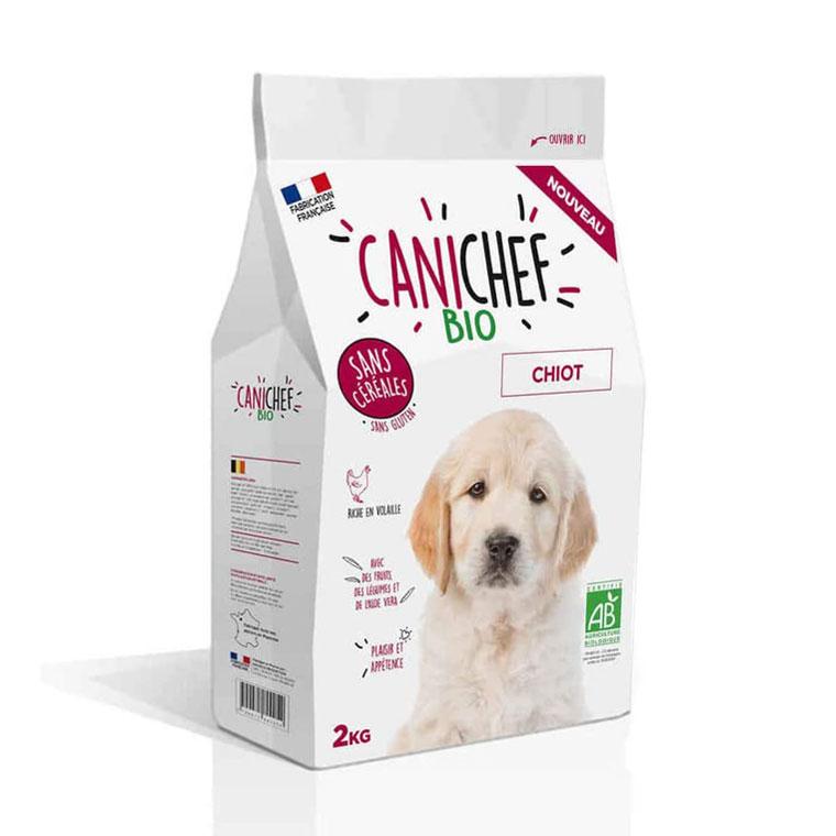 Croquettes Chiot - Canichef Bio sans céréales 2kg 612438