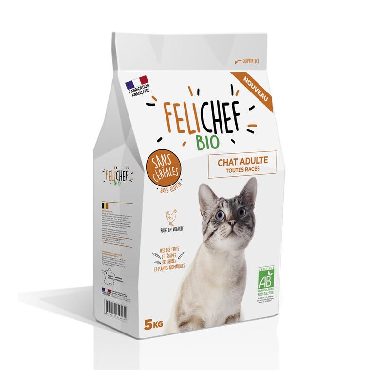 Croquettes Chat - Felichef  Bio adulte sans céréales 5kg 612440