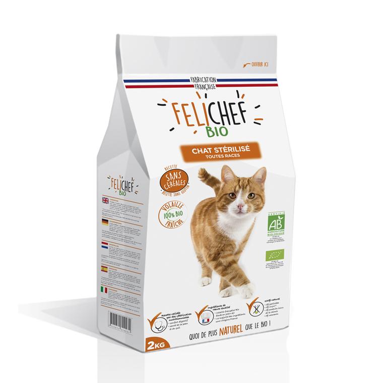 Croquettes Chat - Felichef Bio Stérilisé sans céréales 2kg 612441