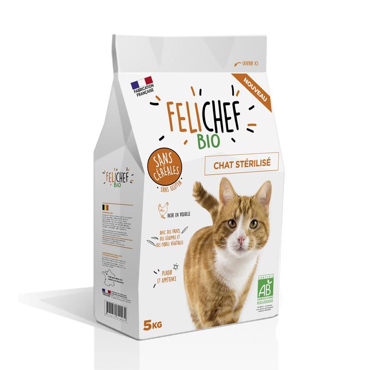 Croquettes Chat - Felichef bio stérilisé sans céréales 5kg 612442