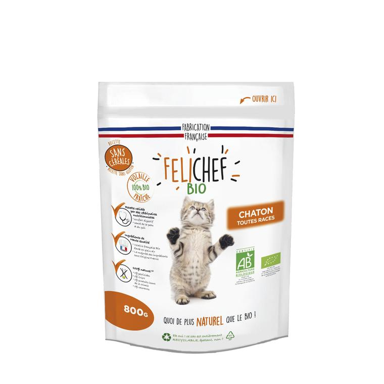 Croquettes Chaton - Felichef Bio sans céréales 800g 612443