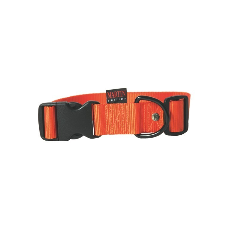Collier chien réglable 40mm / 50-70cm orange 626684