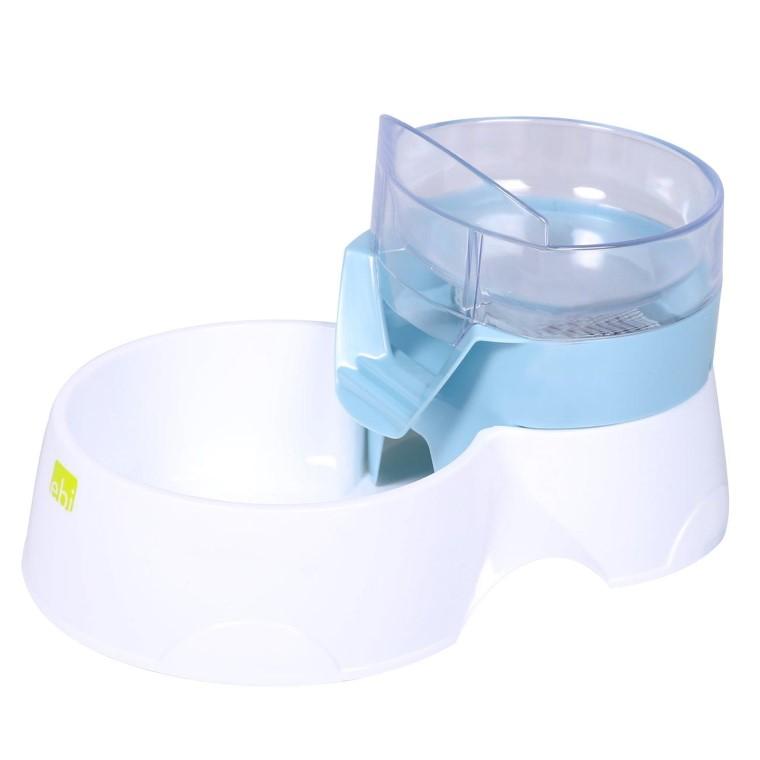 Distributeur 2 en 1 eau et nourriture pour Chien et Chat - Bleu 639840
