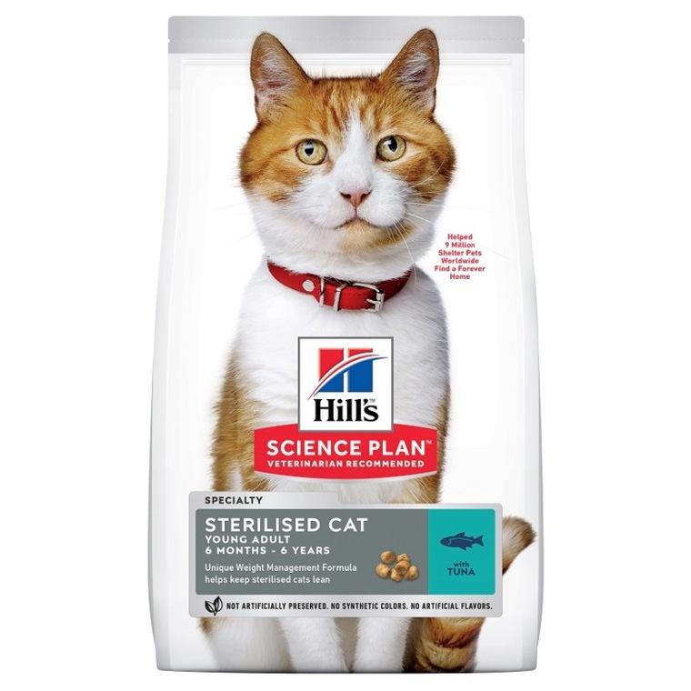 Croquettes Chat – Hill's Science Plan Feline Adult Sterilised Thon 3 kg 661070