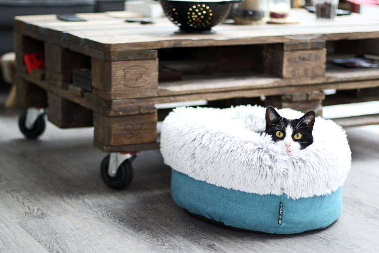 Corbeille ronde en fourrure pour chat Sömn Comfort Inuit - 50 cm 671684