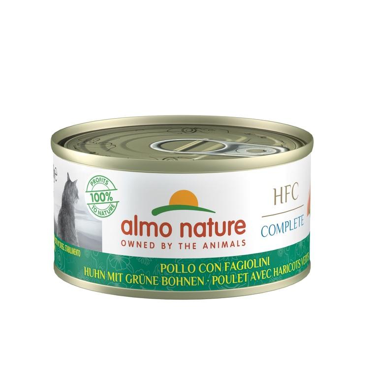 Boîte Chat – Almo Nature HFC Complete - Poulet avec Haricots verts 70 gr 672509