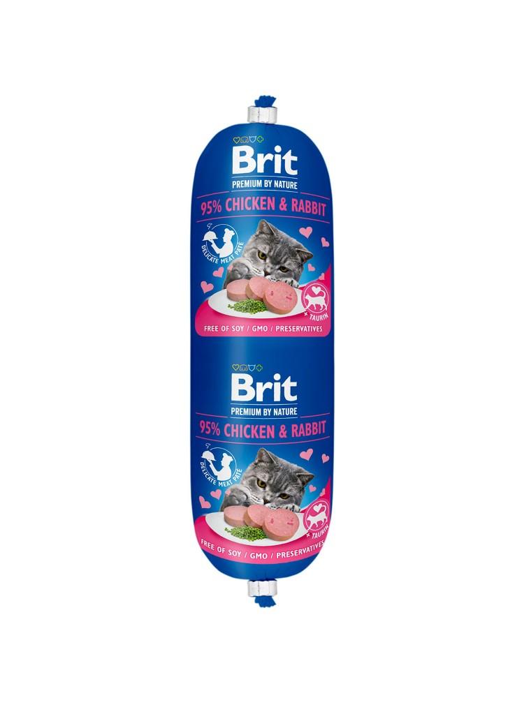 Saucisse pour chat - Brit Premium Sausage Poulet et Lapin 180g 673690