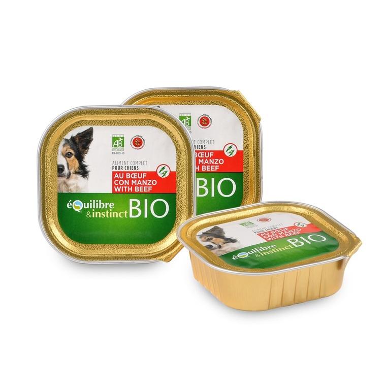 Boite Chien - Équilibre et Instinct chien Adulte Boeuf Bio 150Gr 674977