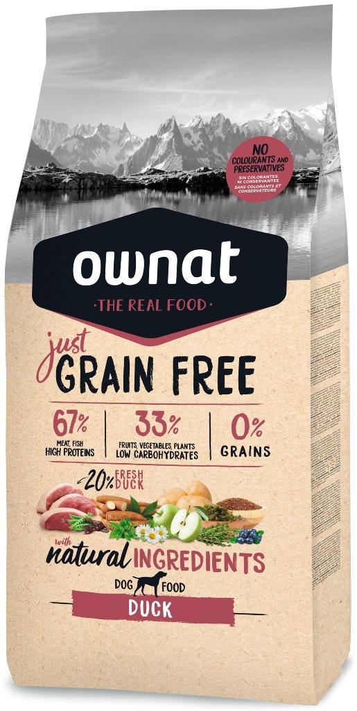 Croquettes Chien - Ownat Just Grain Free Adulte sans céréales Canard - 3kg 678605