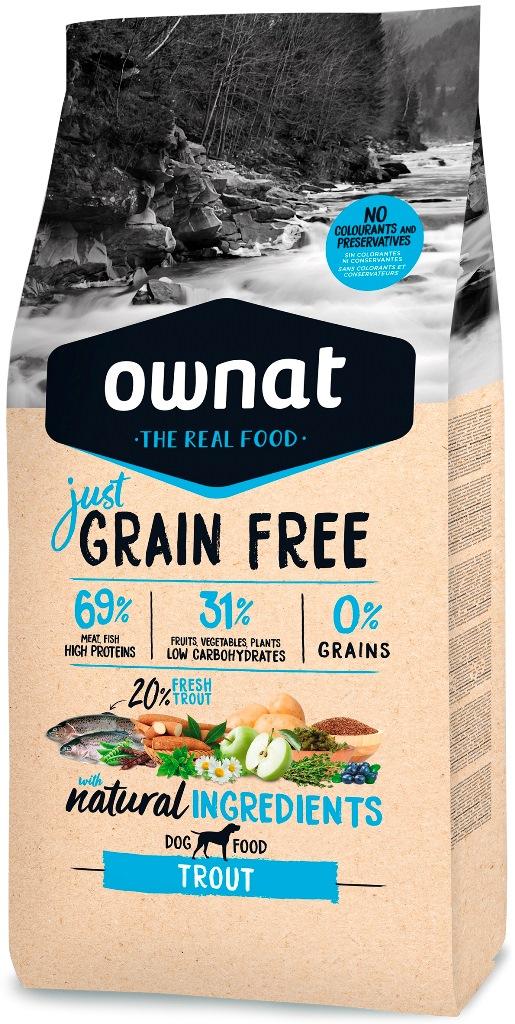 Croquettes Chien - Ownat Just Grain Free Adulte sans céréales Truite - 14kg 678608