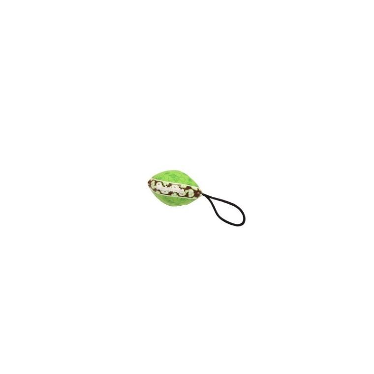 Jouet chien hawaii football vert 17cm 678898