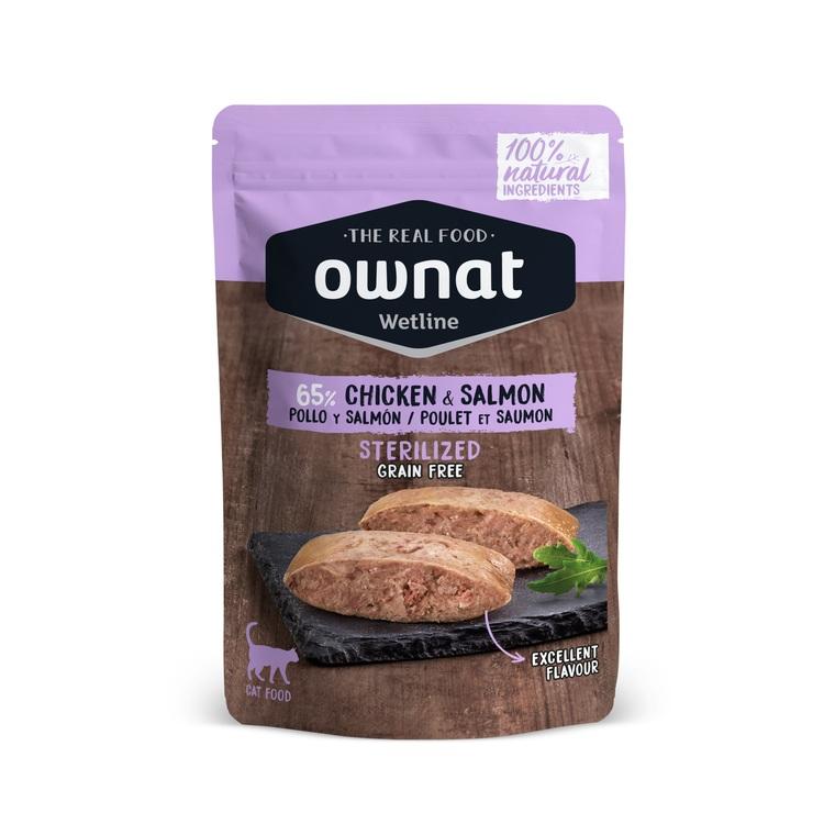 Boîte Chat - Ownat Wetline Sterilized Poulet et Saumon - 85gr 686581