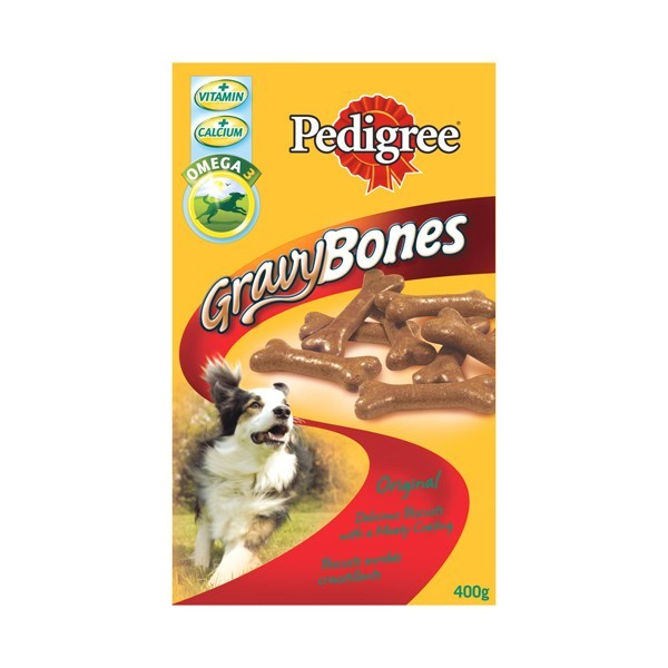 Friandise chien Pedigree Gravy Bones boeuf 400g 68850