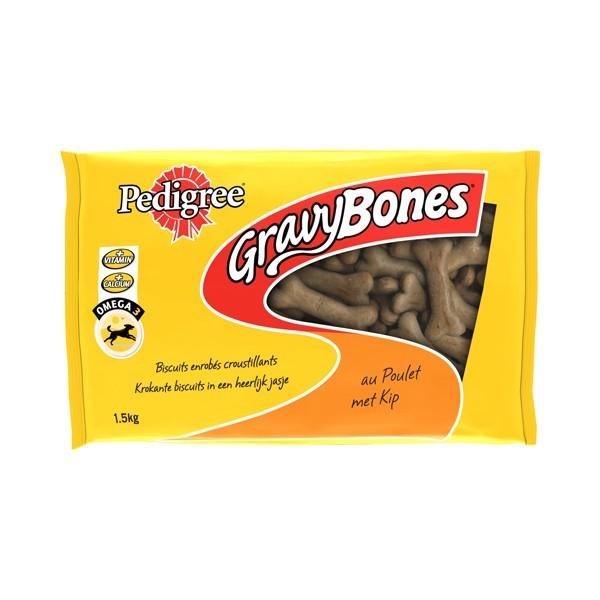 Friandise chien Pedigree Gravy Bones poulet 1.5kg 68851
