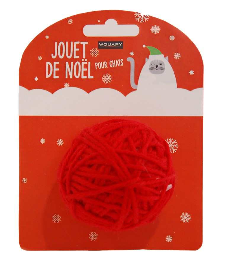 Balle Rouge pelote chat 696048