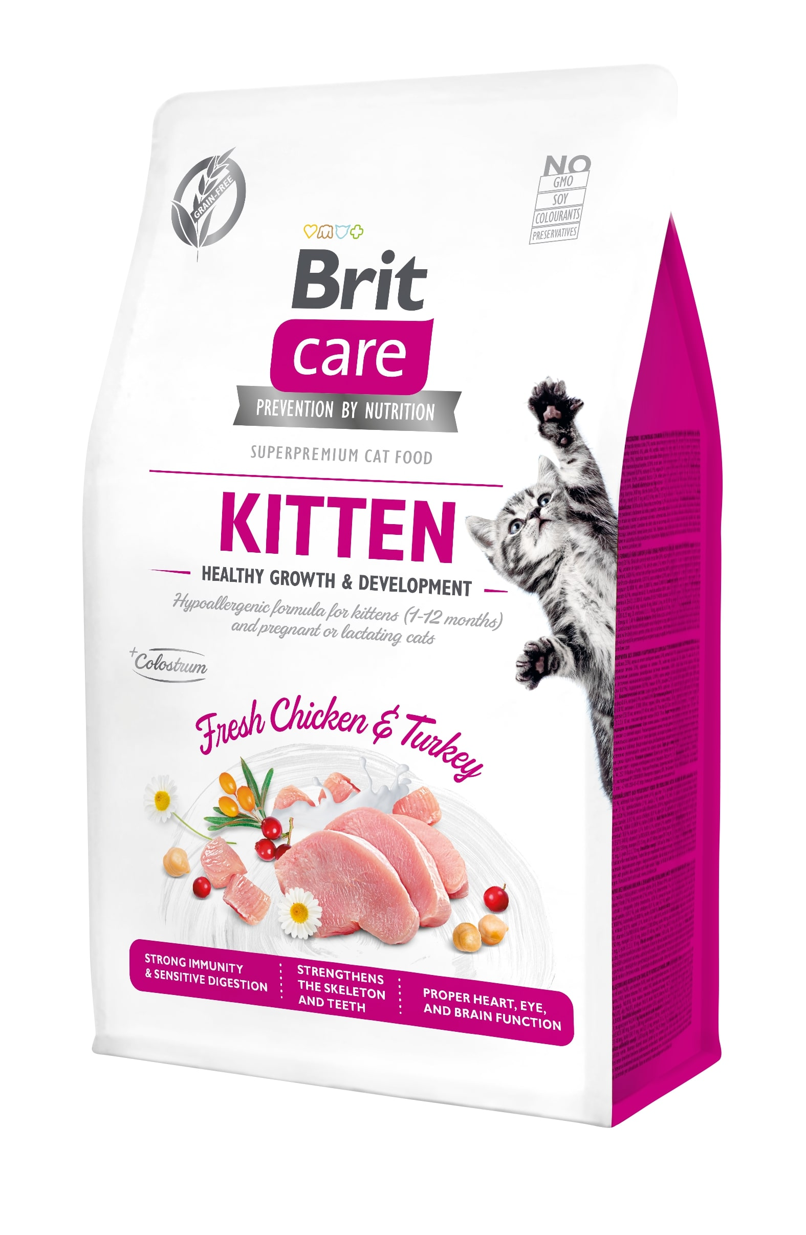 Croquettes Chat - Brit Care Grain Free kitten Healthy Growth and Development - 0,4kg