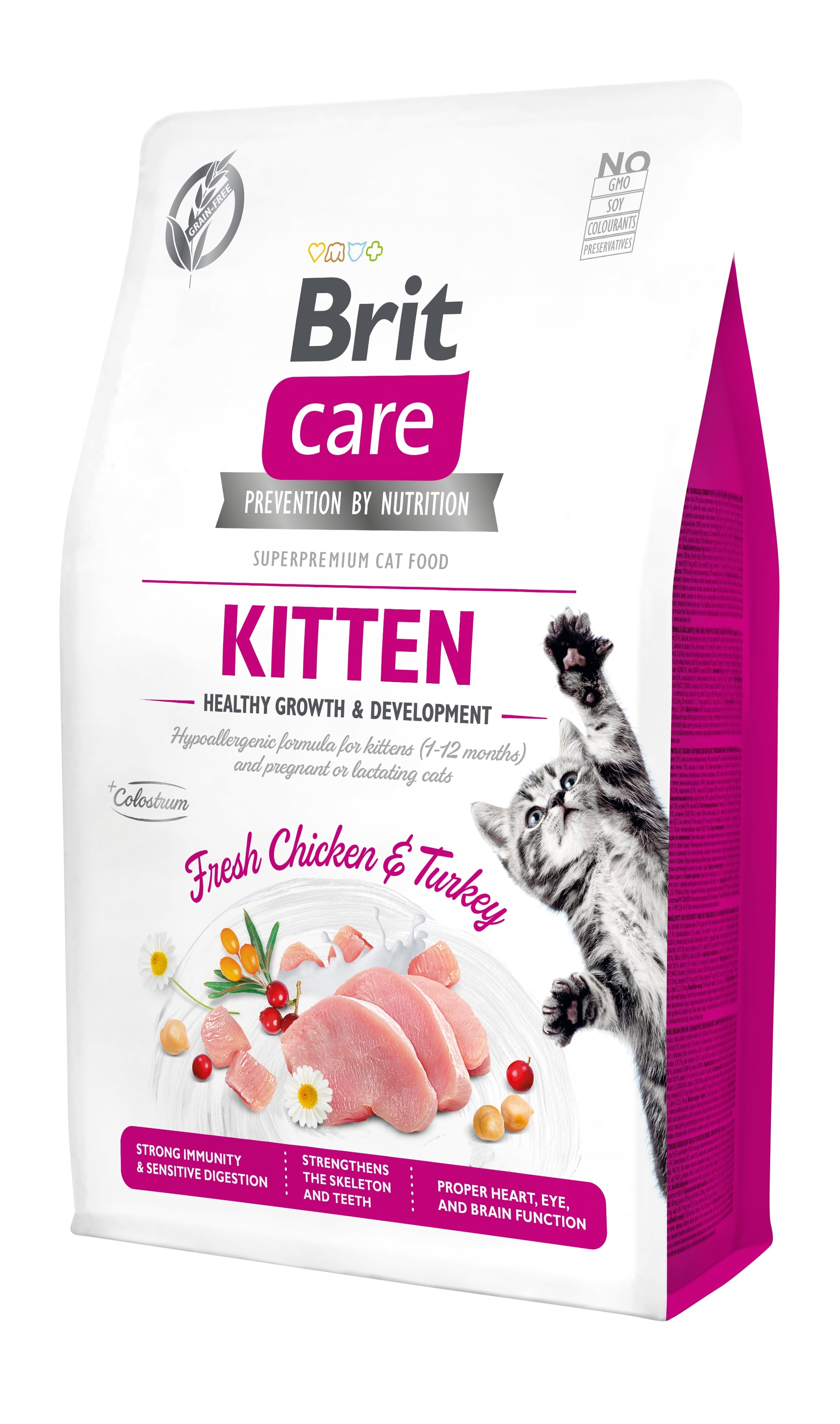 Croquettes Chat - Brit Care Grain Free kitten Healthy Growth and Development - 2kg