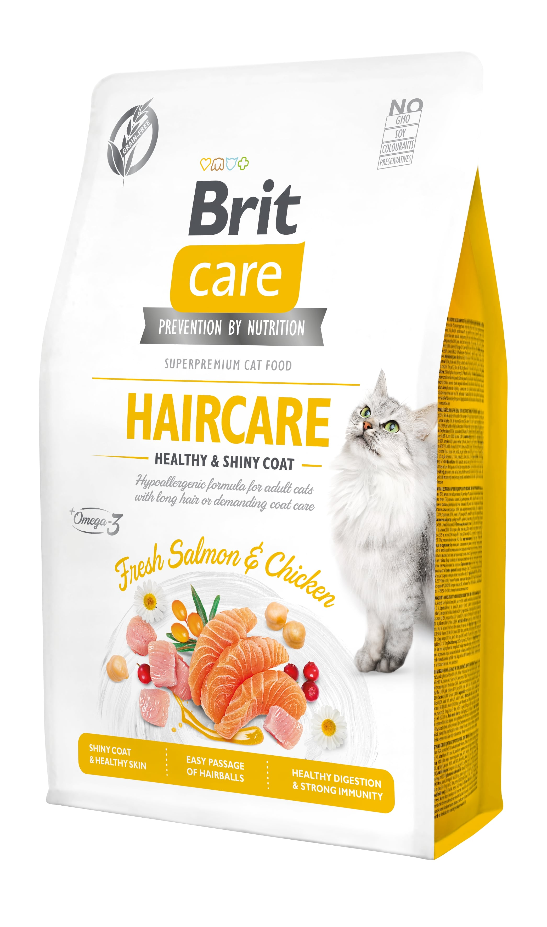 Croquettes Chat - Brit Care Grain Free Haircare healthy and shiny coat - 2kg