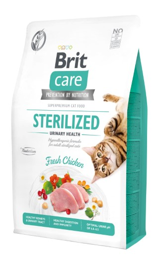 Croquettes Chat - Brit Care Grain Free Sterilized Urinary health - 2kg 715448