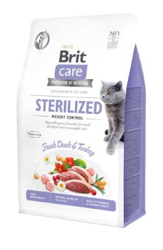 Croquettes Chat - Brit Care Grain Free Sterilized and Weight control - 0,4kg 715450