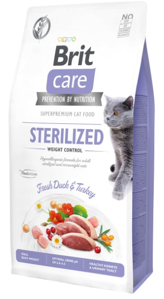 Croquettes Chat - Brit Care Grain Free Sterilized and Weight control - 7kg 715452