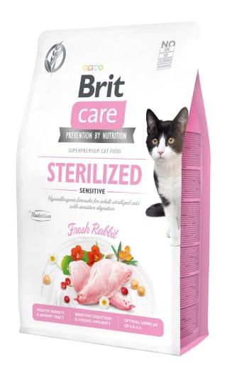 Croquettes Chat - Brit Care Grain Free Sterilized sensitive - 2kg 715454