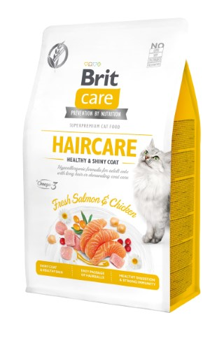 Croquettes Chat - Brit Care Grain Free Haircare healthy and shiny coat - 0,4kg 715456