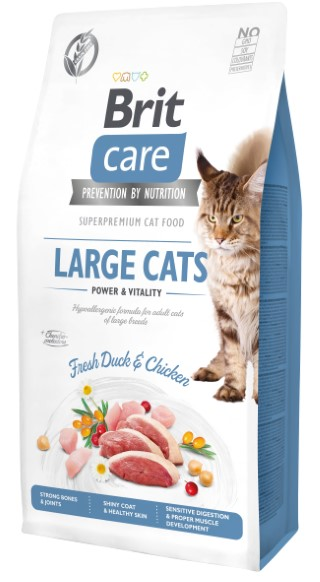 Croquettes chat - Brit Care Cat Grain Free Large cats power and vitality - 7kg 715467