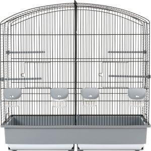 Cage à oiseaux Family 6 noire et grise 77614