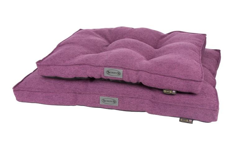 Coussin Scruffs Manhattan Violet Taille M - 82 x 58 cm 700787