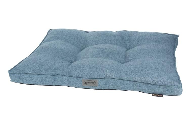 Coussin Scruffs Manhattan Bleu Taille L - 100 x 70 cm 700793