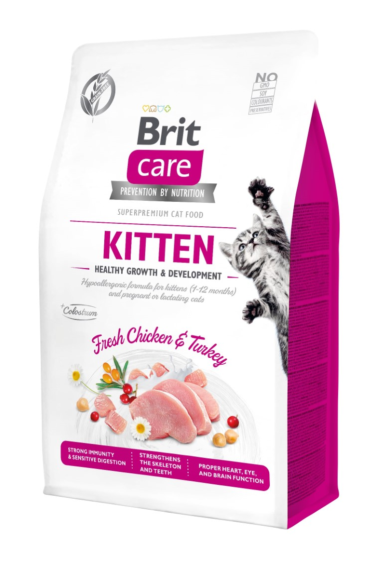 Croquettes Chat - Brit Care Grain Free kitten Healthy Growth and Development - 0,4kg 715441