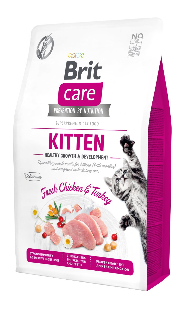 Croquettes Chat - Brit Care Grain Free kitten Healthy Growth and Development - 2kg 715442