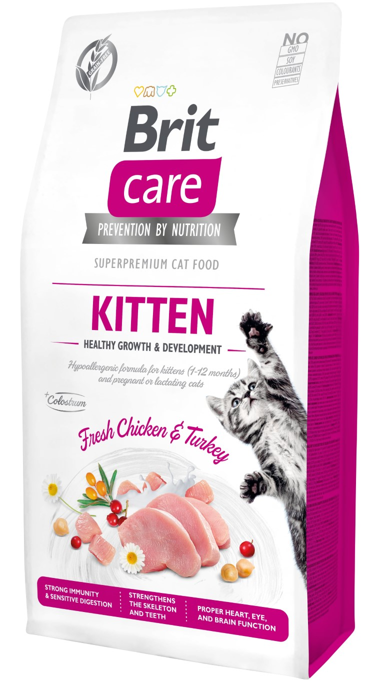 Croquettes Chat - Brit Care Grain Free kitten Healthy Growth and Development - 7kg 715443