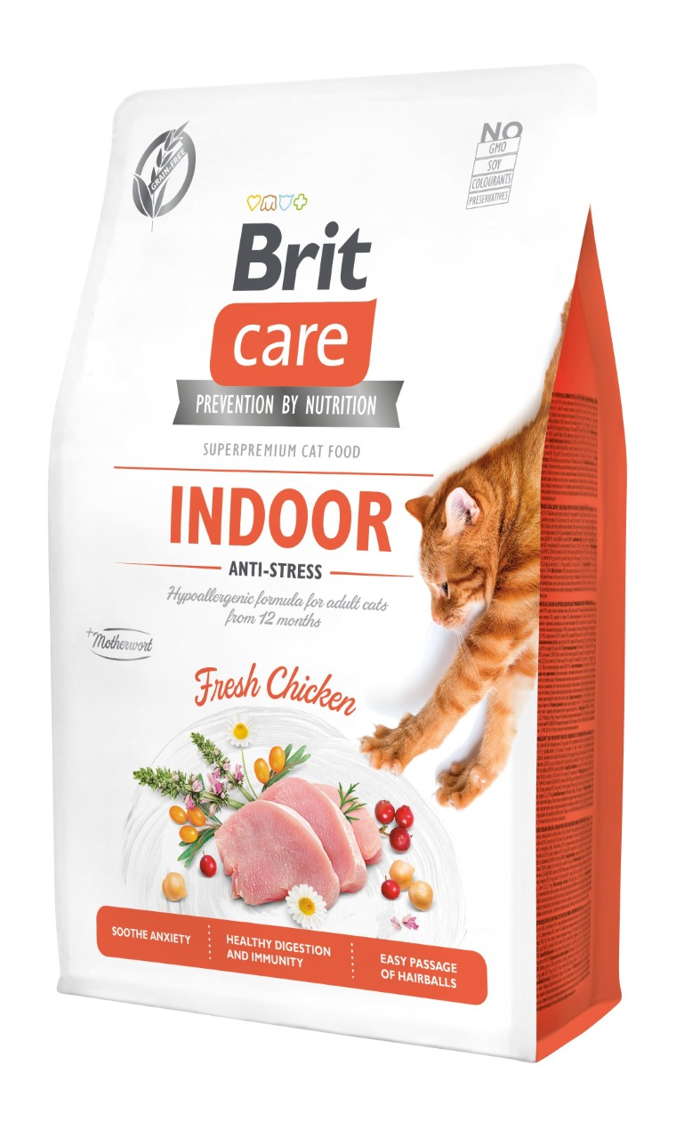 Croquettes Chat - Brit Care Grain Free Indoor Anti-stress - 2kg 715445