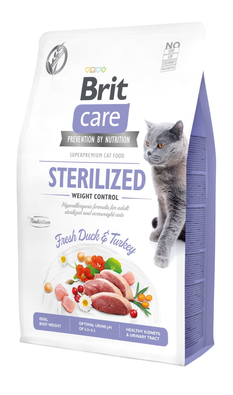 Croquettes Chat - Brit Care Grain Free Sterilized and Weight control - 2kg 715451
