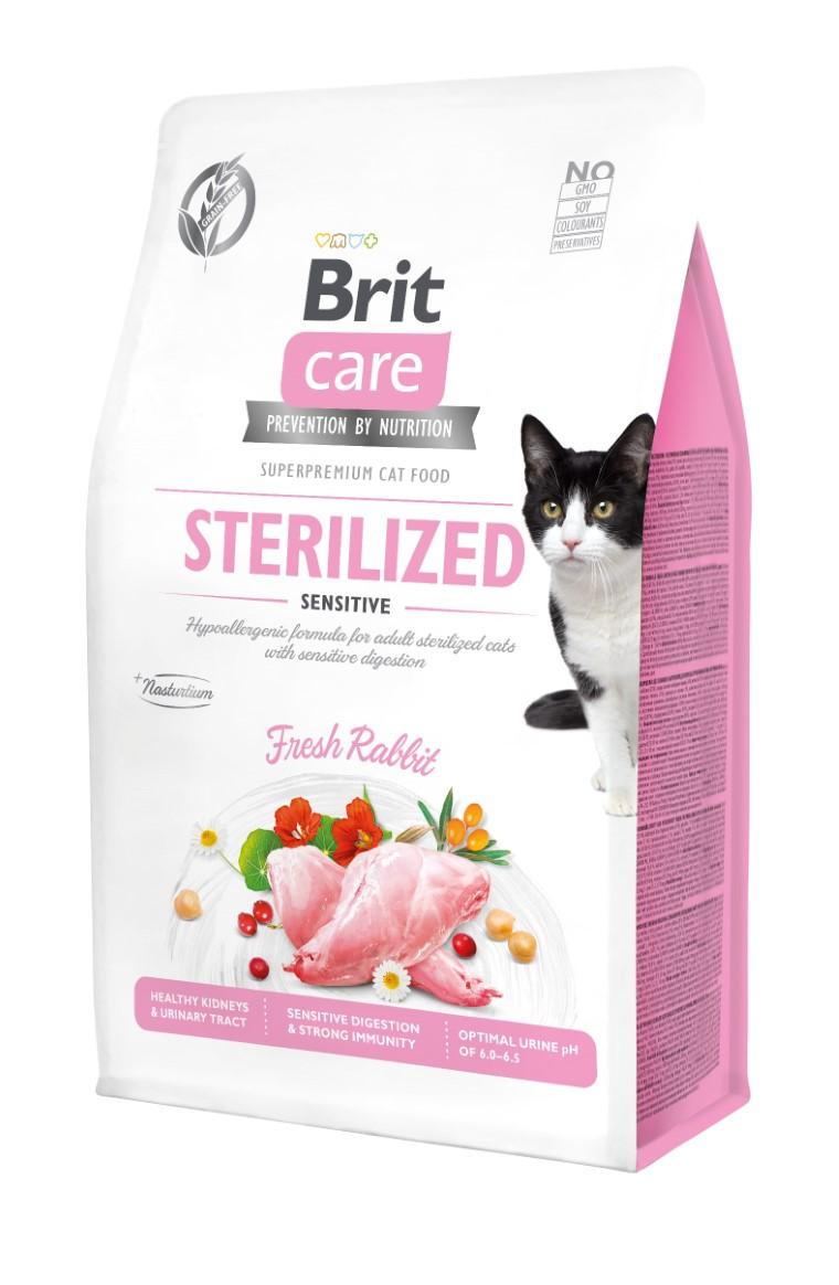 Croquettes Chat - Brit Care Grain Free Sterilized sensitive - 0,4kg 715453
