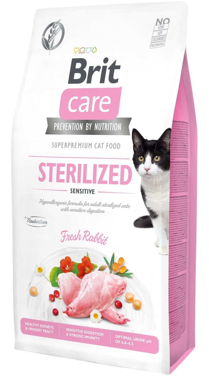 Croquettes Chat - Brit Care Grain Free Sterilized sensitive - 7kg 715455
