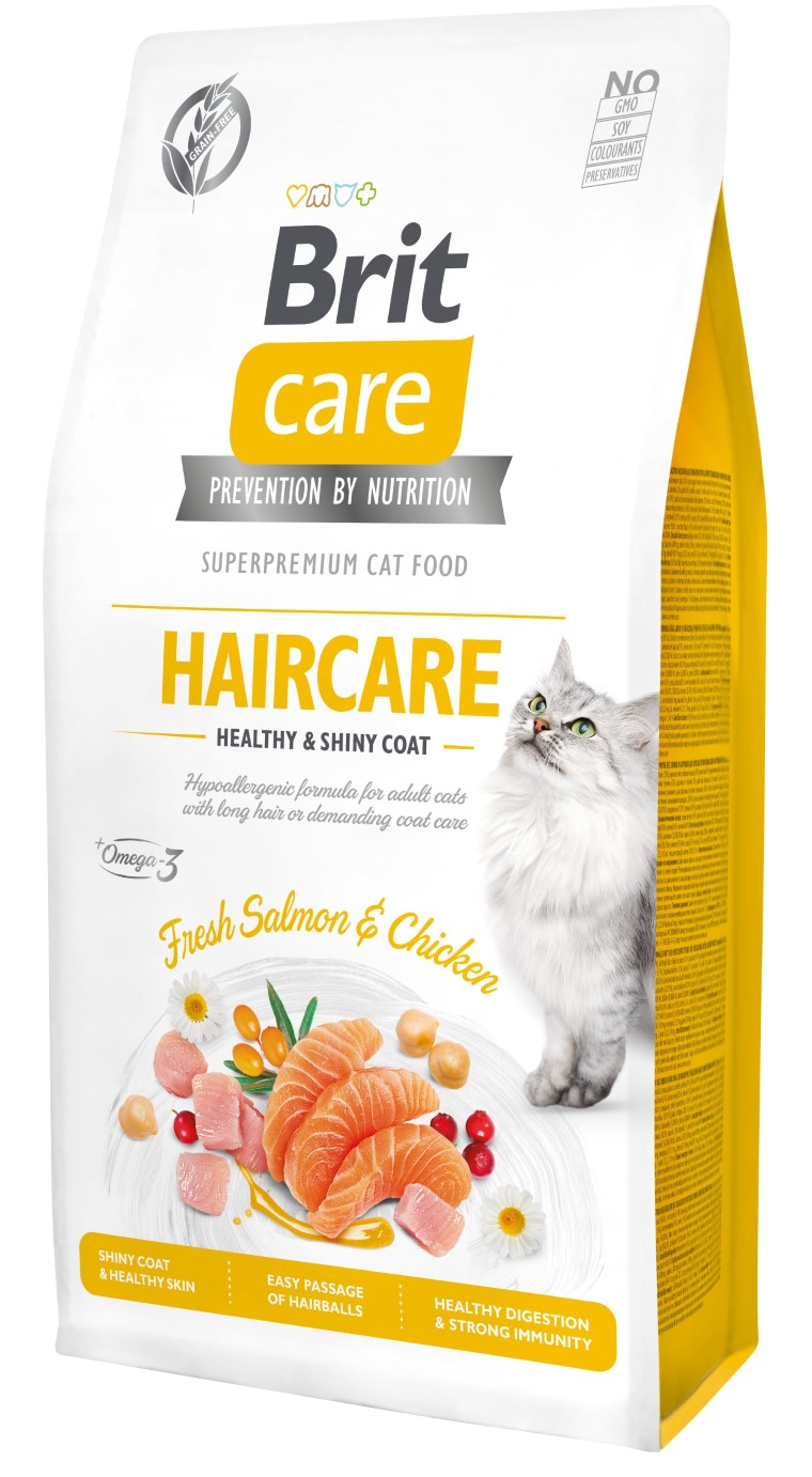 Croquettes Chat - Brit Care Grain Free Haircare healthy and shiny coat - 7kg 715458