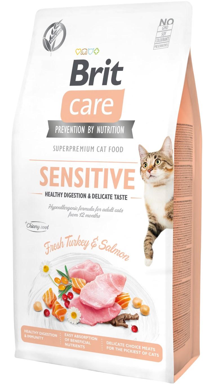 Croquettes chat - Brit Sensitive Digestion & Taste - 7kg 715461