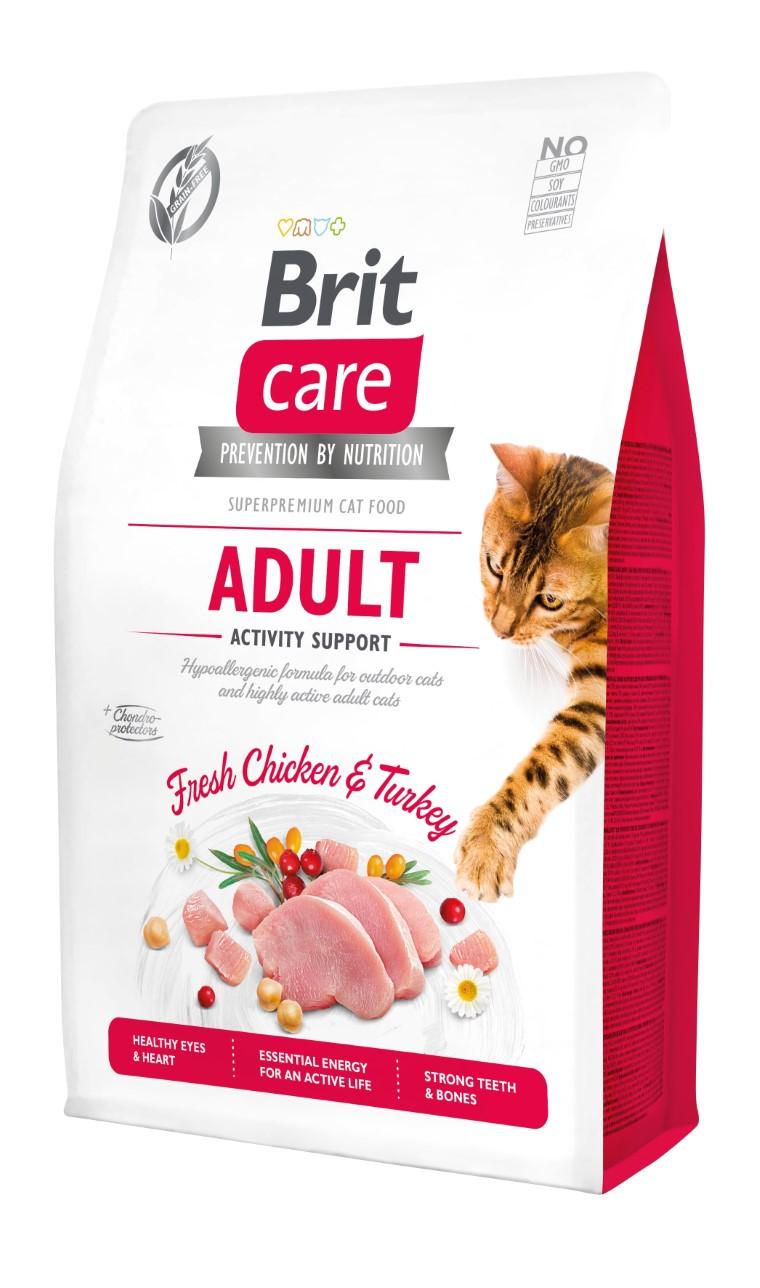 Croquettes chat - Brit Care Cat Grain Free Adulte Activity Support - 2kg 715463