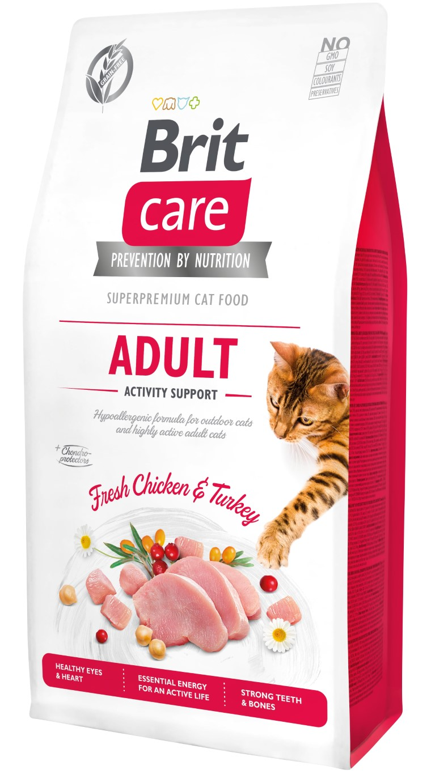 Croquettes chat - Brit Care Cat Grain Free Adulte Activity Support - 7kg 715464